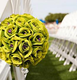 silk wedding flowers idea