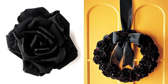 black silk wedding flowers