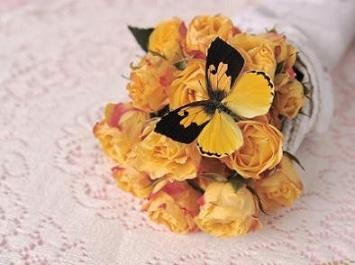 yellow butterfly bouquet