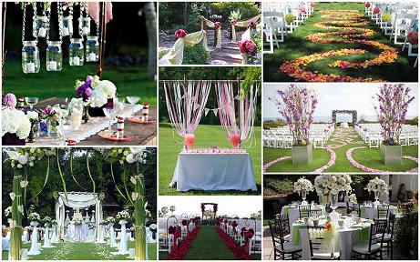 Outdoor wedding decorations,Garden Weddings