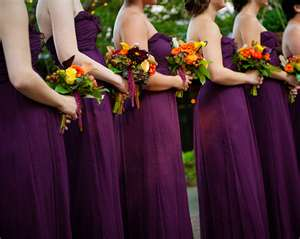 bridesmaids fall wedding