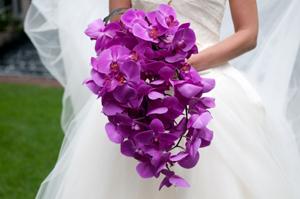 purple orchid bouquets