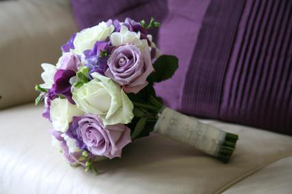 Purple Flower Picture on Bridal Bouquets Have Evolved To Become One Of The Most Important Part