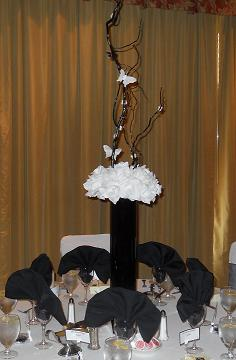silk wedding flowers white