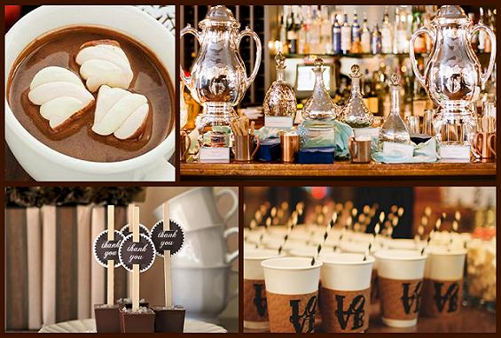 winter weddings hot chocolate