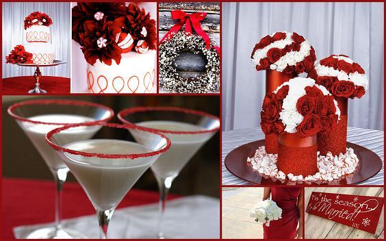 winter weddings peppermint