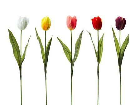 silk wedding flowers tulips
