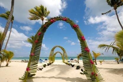Hawaiian wedding arch