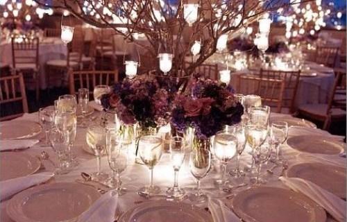 Lavander Wedding Table