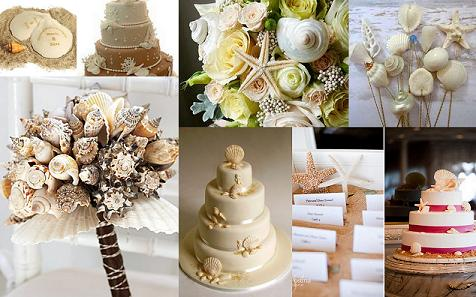 Seashell theme wedding